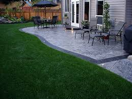 Backyard Cement Patio Ideas Cmdt Systems Decorative Stamped Concrete Patios In Vancouver