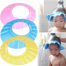 2017 foam adjustable baby child shoo bath shower cap