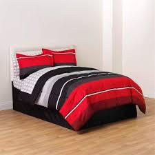red black white gray rugby boys full comforter skirt and sheet