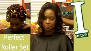 roller set relaxed hair roller set relaxed hair tutorial foto video