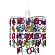 suspension chambre d enfant suspension e27 enfant alphabet acrylique multicolore 1 x 40 w