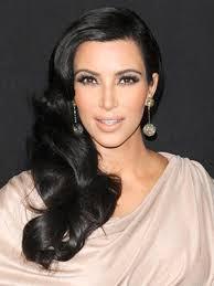 kim kardashian side swept hairstyle prom pinterest side