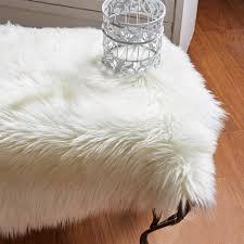 Faux Fur Sheepskin Rug Chanasya Soft Mangolian Faux Fur Non Toxic Hypoallergenic Machine
