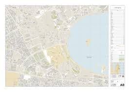 Doha Map State Of Qatar National Cartographic Design Strategy U2022 Clear