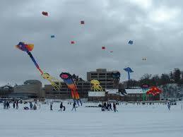 kites on ice literally on lake monona in madison wi oh the