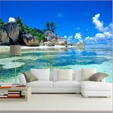 ocean explore wallpapers paradise ocean sea beach custom mural wallpaper with free shipping