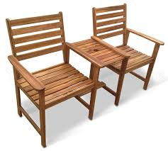 Outdoor Jack And Jill Chair by Chester Hardwood Companion Set Love Seat Garden Bench Tete Tete