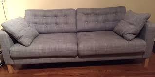 ikea karlstad sofa turning the ikea karlstad sofa into a mid century modern