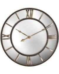 Large Mirrored Wall Clock Mirrored Wall Clock Home Array