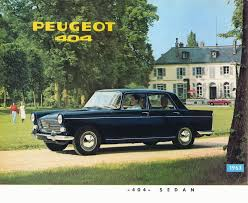 peugeot cars older models 1963 peugeot 404 brochure