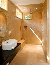 attractive small bathroom open shower open shower bathroom design