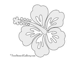 hibiscus flower stencil free stencil gallery