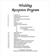 exle of wedding program program for wedding reception format wedding ideas 2018
