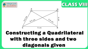constructing a quadrilateral with three sides and two diagonals