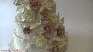 cascading roses u0026 orchids wedding cake youtube