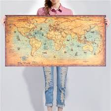 Self Adhesive Old World Map Online Buy Wholesale World Map From China World Map Wholesalers
