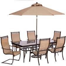 Patio Spring Chair by Monaco 7 Piece Dining Set With Four Dining Chairs Two C Spring