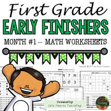 1st grade math worksheets 1st grade early finishers activities