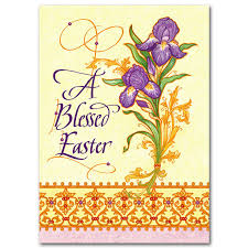 easter greeting cards religious a blessed easter easter card