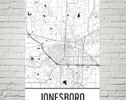 map of jonesboro ar jonesboro arkansas etsy