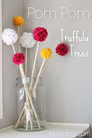 Pom Trees Mantel Decor With Pom Pom Truffula Trees U2014 Tessie Fay