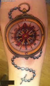 latest chain compass tattoo design made by expert tattooshunter com