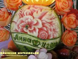 hawaiian theme wedding garnishfoodblog fruit carving arrangements and food garnishes
