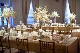 Gold Table Centerpieces by White And Gold Wedding Table Settings 5028