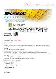 microsoft mcsa 70 410 pdf dumps