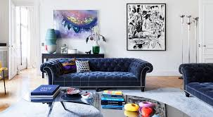 Blue Velvet Chesterfield Sofa 20 Luxe Ways To Work Velvet Into Your Home Without Looking Stuffy