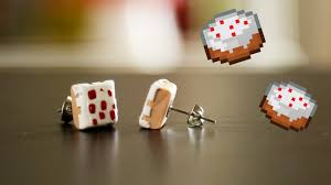 minecraft earrings minecraft cake earrings diy gg