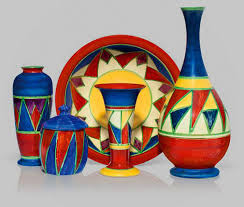 Red Vases And Bowls Clarice Cliff Archives Ceramics And Pottery Arts And Resources