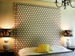 bedroom upholstered headboard with wood trim to make comfortable