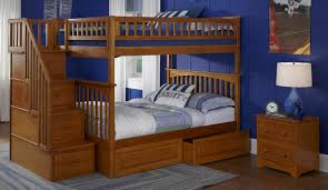 design of full over queen bunk bed with stairs translatorbox stair