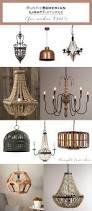 rustic bohemian light fixtures under 300