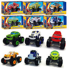 6pcs blaze and the monster machines vehicles plastic toys racer