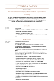 Resume Sample For Housekeeping by Asst Manager Resume Samples Visualcv Resume Samples Database