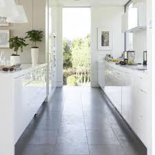 kitchen fascinating modern white galley layout decoration using dark