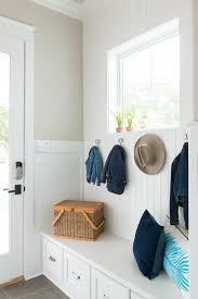 mudroom storage bench entry farmhouse with built in bench coat