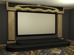 Contemporay Home Theater Stage Package - Home theater stage design