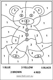 0to5 au teddybear colour number easy template