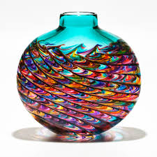 coloured glass vases lagoon by michael trimpol boha glass