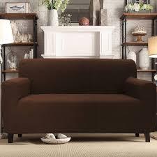 one piece stretch sofa slipcover mainstays 1 piece stretch fabric sofa slipcover walmart com