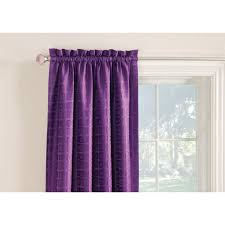 Heat Blocking Curtains Shop Style Selections Gabby 84 In Purple Polyester Rod Pocket Room