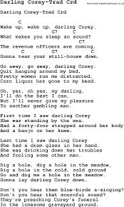 Maps Lyrics Skiffle Lyrics For Darling Corey Trad With Chords For Mandolin