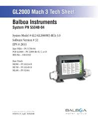 balboa instruments ml400 user guide