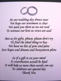wedding gift ideas second marriage wedding money gift voucher poem cards for invites a7 or a6