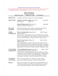 Chronological Order Resume Example Chronological Resume Sample For College Student Augustais