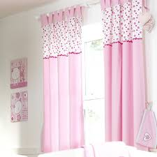 Textured Cotton Tie Top Drape by Luxury Baby Room Decor Pink Cotton 2 Panel Nursery Curtain