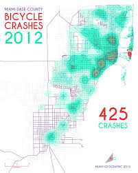 Map Of Miami Dade County by Bicycle Crashes In Miami Dade County 2005 2013 Miami Geographic